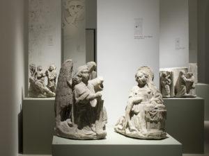 Salle Moyen- Age. Exposition Déclinaisons gothiques. Le portail Montfalcon de la cathédrale de Lausanne,